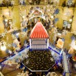 New year in Moscow. GUM trading house. Modern shopping center in — Stock Photo