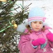 Near christmass tree — Stock Photo #7939040