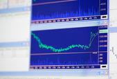 Financial diagrams on monitor screen — Stock Photo
