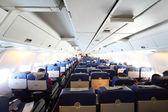 Cabina aereo con vista generale passeggeri — Foto Stock