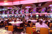 Restaurant with bright multicolored interior general view — Stockfoto