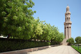 Islamic architecture tower, oman, sunny summer day — Stock Photo