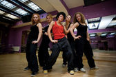 Jump dancing collective — Stock Photo