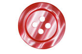Dark red button for clothes isolated on white background — Stock Photo