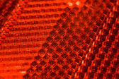 Bright red abstract textural pattern, Fragment of cataphot — Stock Photo