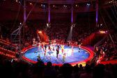 Moskwa - 5 czerwca - niebieskie arena w moskwie nikulin cyrk performanc — Zdjęcie stockowe