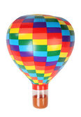 Multicolored hot-air balloon toy isolated on white background — Stock Photo