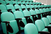 Fragment of empty conference hall, rows of a chairs — Stock Photo