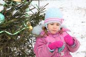 Near christmass tree — Stock Photo
