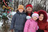 In de buurt van kerst boom — Stockfoto
