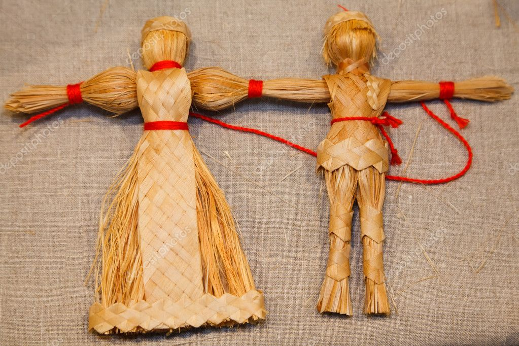 Куклы из соломы своими руками фото