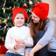 Mother and son celebrating Christmas — Stock Photo