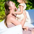 Happy mother and daughter outdoors — Stock Photo #6935082