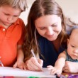Family drawing — Stock Photo #7498206