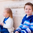 Two kids outdoors - Stockfoto