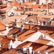 Foto Stock: Dubrovnik old town red roofs