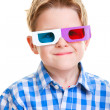 cute boy wearing 3d glasses — Stock Photo