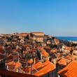 Dubrovnik old town red roofs - Foto Stock