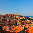 Dubrovnik old town red roofs — 图库照片 #7686024