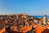 Dubrovnik old town red roofs — Stockfoto