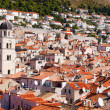Dubrovnik old town red roofs — Stock Photo