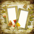Frame for photo with flowers and butterflies — Stock Photo #7184312