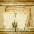 Christmas vintage greeting card - Stok fotoğraf
