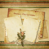 Christmas vintage greeting card — Stock Photo