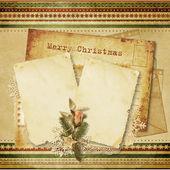 Christmas wenskaart vintage — Stockfoto