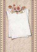 старинные открытки на день valentine — Стоковое фото