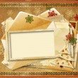 Vintage Holiday's greeting card — Stock Photo