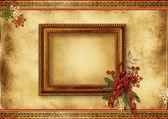 Vánoční přání s rámečkem — Stock fotografie