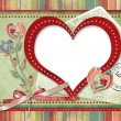 Retro card with heart — Stock Photo #7812954