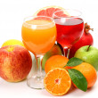 Ripe fruit and juice — Foto Stock