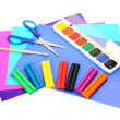 Paints and pencils — Stock Photo
