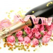 Wine and roses — Stock Photo #7699085