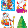 Set of Christmas clip-arts — Stock Photo #7686026
