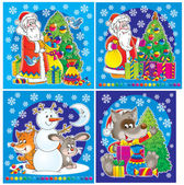 Set of Christmas clip-arts — Stockfoto