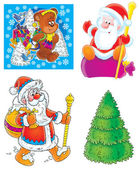 Set of Christmas clip-arts — Stock Photo