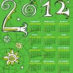 2012 sketchy calendar — Stock Vector #7244743