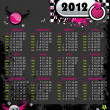 Emo calendar for 2012 — Vector de stock #7244749