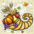 Vector de stock : Thanksgiving theme 12