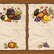 Stock Vector: Thanksgiving theme 11