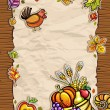 Stock Vector: Thanksgiving theme 9
