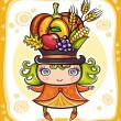 Thanksgiving theme 14 — Vector de stock #7245958