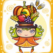 Vector de stock : Thanksgiving theme 14