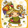 Vector de stock : Thanksgiving theme 13