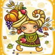 Thanksgiving theme 13 — Vector de stock #7245959