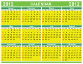 Colorful calendar for 2012 — Vettoriale Stock