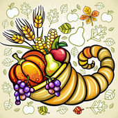 Thanksgiving theme 12 — Stockvektor